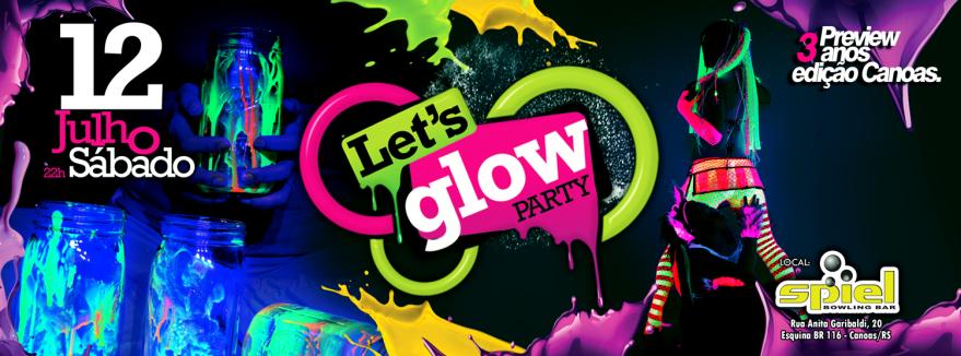 decoracao festa glow:Let It Glow Party