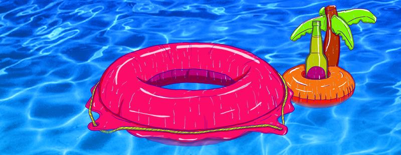 Uma puta festa na piscina sympla for Caillou na piscina