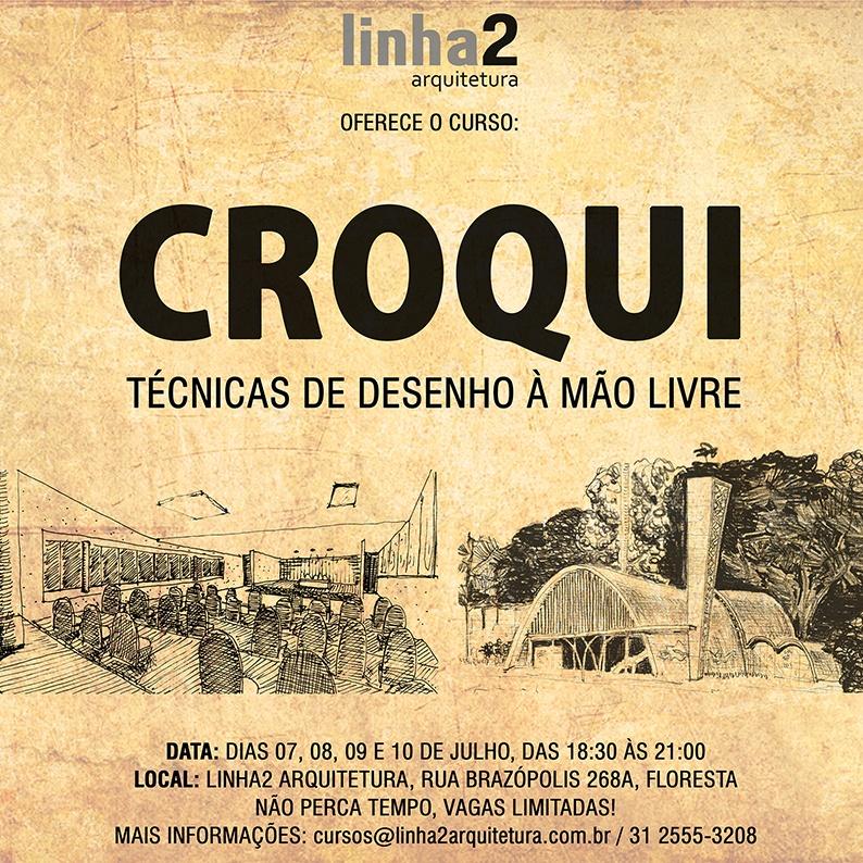 Well-known CURSO: CROQUI - TÉCNICAS DE DESENHO À MÃO LIVRE - Julho de 2015  VZ64